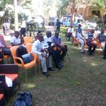"Orange chairs, Not NRM yellow. Same colour as that in #GoForward2016 Logo, a new party sir? #AskAmama ""@abbeykaddu: http://t.co/h2KfowlhMc"""