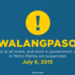 Classes at all levels & govt work in Metro Manila are suspended today, July 6 | via @govph http://t.co/8kiFCy3hyN