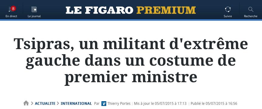 Le Figaro, un tract de propagande dans un costume de journal d'information. http://t.co/21b1F67Qq9