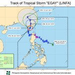 Tropical Storm Egay expected to leave PH Area of Responsibility on July 9, Thursday #EgayPH http://t.co/x9bKuoHNqr