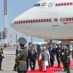 "Prime Minister, @narendramodi arrives at ""Tashkent -1"" Airport, in Tashkent, Uzbekistan some time ago : MIB http://t.co/KhyvG5YmUf"