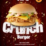 I wud eat this KFC burger everyday, it it really looked like this...😒   http://t.co/KEO5Zy01UV