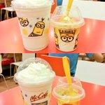 เครื่องดื่มปั่นมินเนี่ยน ไอศกรีมมินเนี่ยน ลายไม่ซ้ำกัน แมคโดนัลด์ประเทศไทย #minions http://t.co/hxl6oLtHrb