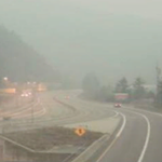 Visibility is limited around BC, drive with caution http://t.co/f4EGW5BTR4