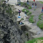If you think we need a big fence at Peggys Cove, dont visit Irelands Cliffs of Moher, where this happens every day http://t.co/4lkl52D4fO