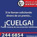Si te llaman solicitando dinero a cambio de un premio, #CuelgayDenuncia al (222) 244.6854 #Puebla http://t.co/jkEloJxhP4