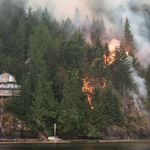 Another photo @GlobalBC received of the Sproat Lake fire getting far too close to a cabin. http://t.co/X1sOGbdRIv