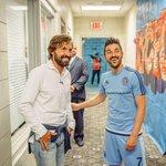 [#MLS] David Villa avec son nouveau coéquipier, Andrea Pirlo. http://t.co/Nl2OSOX2jn
