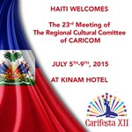Haiti is proud to host CARICOM for the 23rd Regional Cultural Committee meeting! Prepping for #CarifestaXII http://t.co/duqC5Wg4nc