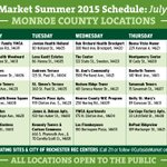 .@CurbsideMarket summer schedule starts today! Longer hours, more stops & locations. #ROC #foodaccess http://t.co/qJN5dBCicE