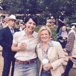 Chatting with the Premier of Alberta @RachelNotley at her Stampede breakfast in Calgary this morning. #CdnPoli #AbLeg http://t.co/6zxRHuwZpX