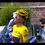 Le maillot jaune #Cancellara grimaçant car lui aussi il est allé à terre http://t.co/hItDtvxPXA #TDF #TDF2015 #LesRP http://t.co/WpwsVWcHXe