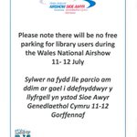 Important notice re parking at the Civic Centre during the Wales National Airshow http://t.co/fBrmRdnJHW