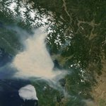 The smoke over B.C. is so thick you can see it from space. #CTVFireLine #BCwildfire http://t.co/hftZW6hC49 http://t.co/my4zr4rqLD