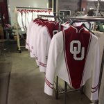 More progress on the Pride of Oklahoma uniforms!! #marchon #boomersooner #prideofoklahoma http://t.co/Bscar5eOft