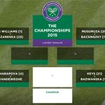 Garbine Muguruza beats Caroline Wozniacki 6-4, 6-4 & the womens quarter-final line-up is complete! #Wimbledon http://t.co/yfPzHy7d9z
