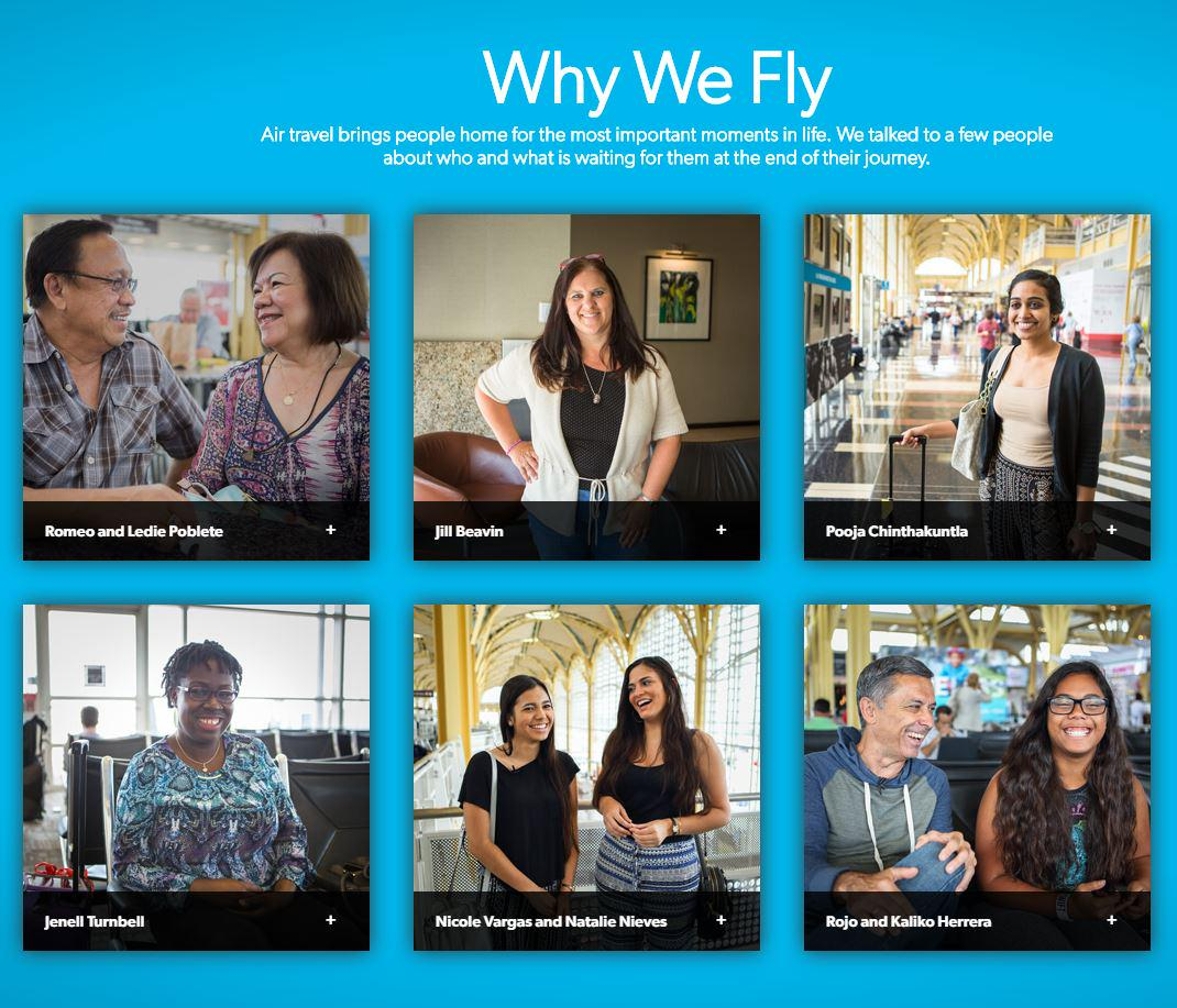 2.1M passengers fly with U.S. airlines daily. Read some of their amazing stories. WhyWeFly: