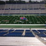 The new field turf is just about done at Joe Aillet Stadium. What do you think? #BulldogCountry http://t.co/BAYmAkVpRd