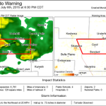 5:30pm - New tornado warning for Shawano Co until 6pm. This storm has produced tornadoes. Take cover now! http://t.co/eFm4cHDYKB