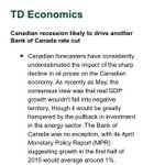 #TD Economic Update includes R Word in headline; forecasts BoC rate cut next week & no hike until mid 2017 #cdnpoli http://t.co/ZJl9uG8ocs