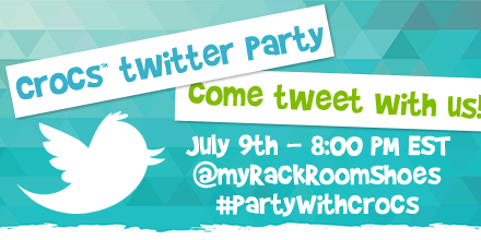 Join our Crocs #TwitterParty for new ways to find your summer fun. Tweet to win FREE Crocs & gift cards! July 9th! http://t.co/FlbsDCVetx