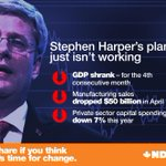 Recent Stat Can reports show that Canadas economy is teetering while Harper boasts: http://t.co/HTD4CwUpwa #cdnpoli http://t.co/MqFsgSOA7F