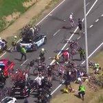 20 riders fall in massive crash at Tour de France http://t.co/VhbaXHKJXA http://t.co/N0d9jevnOn