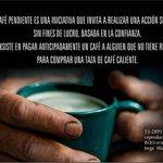 """Amig@s @cafebiblioteca Invita al lanzamiento de la iniciativa """"Café Pendiente"""" Viernes 17/Julio 19hrs #antofagasta http://t.co/4qQf2jN5oZ"""