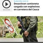"""""""Desactivan camioneta cargada con explosivos en Cauca"""" http://t.co/WN6miuAcv1 ¿Y los Uribistas somos los enemigos? http://t.co/K5BTDDU8b3"""