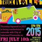 This month Food Truck Rally is resked. to 7/10 w/ @lakelandgov fireworks. Please pass it on. #Lkld #Lakeland http://t.co/kJNmnpTVt1