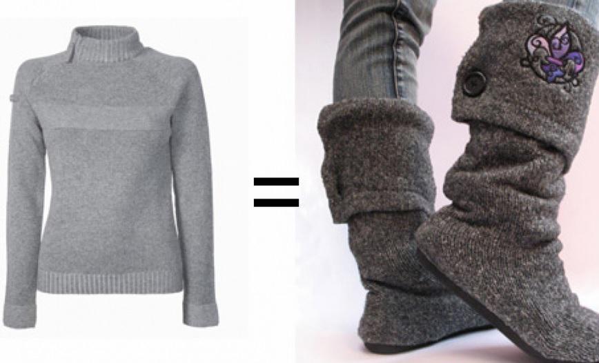 DIY: convertí un sweater viejo en unas prácticas botas de lana