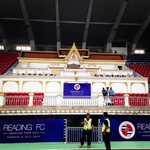 As England sleeps, the Royals head out for the first of two training sessions at the Supachalasai National Stadium. http://t.co/zarmAexmiA