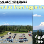 Impressive pryocumulus formed NW of Fairbanks from #AggieCreekFire. #Smoke was seen on Pedro Dome radar & satellite. http://t.co/kn8SbzyFwE