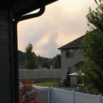 Indian Trail Fire #Spokane - can see smoke from Five Mile. Hope they knock it down quickly. Thankful for no wind http://t.co/taC7FZztMl
