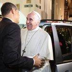 Finaliza visita del @Pontifex_es al Presidente @MashiRafael en el Palacio de Carondelet #FranciscoenEcuador http://t.co/XqZ9k99b8r