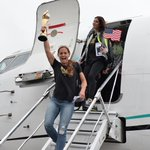 The #USWNT has touched down in the #USA! http://t.co/t1oeCsFOY5