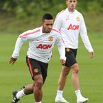 Januzaj and new boy Memphis Depay http://t.co/K6gfBq2Nih