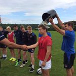 Good start from the U16s -decent start to Pre Season.  Here is trainer of the day Ben Hathaway getting his award. http://t.co/8jr10moolQ