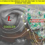 A Pacific storm system will bring cooler weather to the central CA interior this week.#cawx http://t.co/KzPOVPcfKM