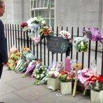 7/7 memorial in Tavistock Square this morning on 10 year anniversary http://t.co/OQMeJ79x4q