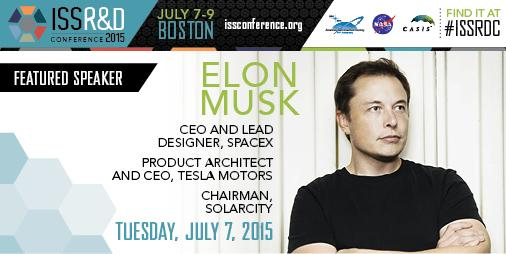 TODAY: A Conversation with Elon Musk | 8:30a ET | Watch here: http://t.co/etlaYextLX #ISSRDC http://t.co/wU6AWBhtdV