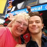Great having @chriscolfer at @GMA... and taking selfies with fans! See more on @instagram: http://t.co/ngOgvcrQdU http://t.co/4a7WlFftVT