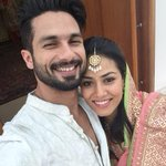 #Hitched!  @shahidkapoor and Mira Rajput take their first selfie as a married couple.  RT if you're going awww!