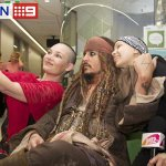 JUST IN: Johnny Depp, in Jack Sparrow garb, has visited kids at Lady Cilento Children's Hospital. @Juiced_TV #9News http://t.co/RH1vRMNJ82