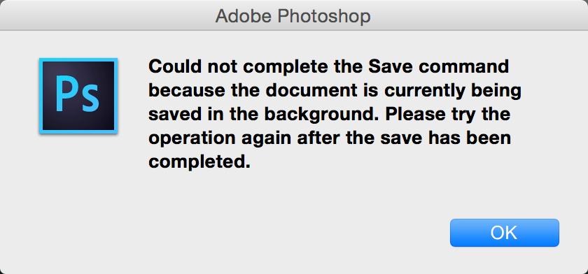 Wonderfully circular error message from Photoshop. http://t.co/nVPRRu1vj5