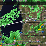 The back edge of the light rain will arrive in the Grand Rapids area around 9 AM. #wmiwx @wzzm13wx http://t.co/BycYnQyLFs
