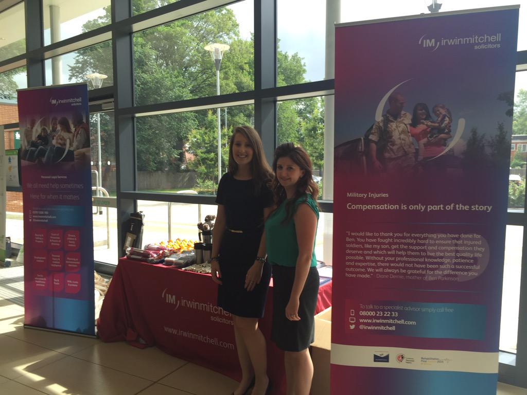 Big thanks to @irwinmitchell solicitors, supporters of today's Tidworth Roadshow #yourarmyfamily http://t.co/nm56yn8BsU