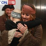 Johnny Depp, as Jack Sparrow, has visited sick QLD kids at a Brisbane hospital: http://t.co/Vxg1EHJpj7. #9News http://t.co/QvOzlm2G4J