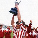 Temporada 91/92. @8JULENGUERRERO levanta la Copa del Rey de juveniles en Los Pajaritos de Soria. @canteradelezama http://t.co/rDUQpL1AHK