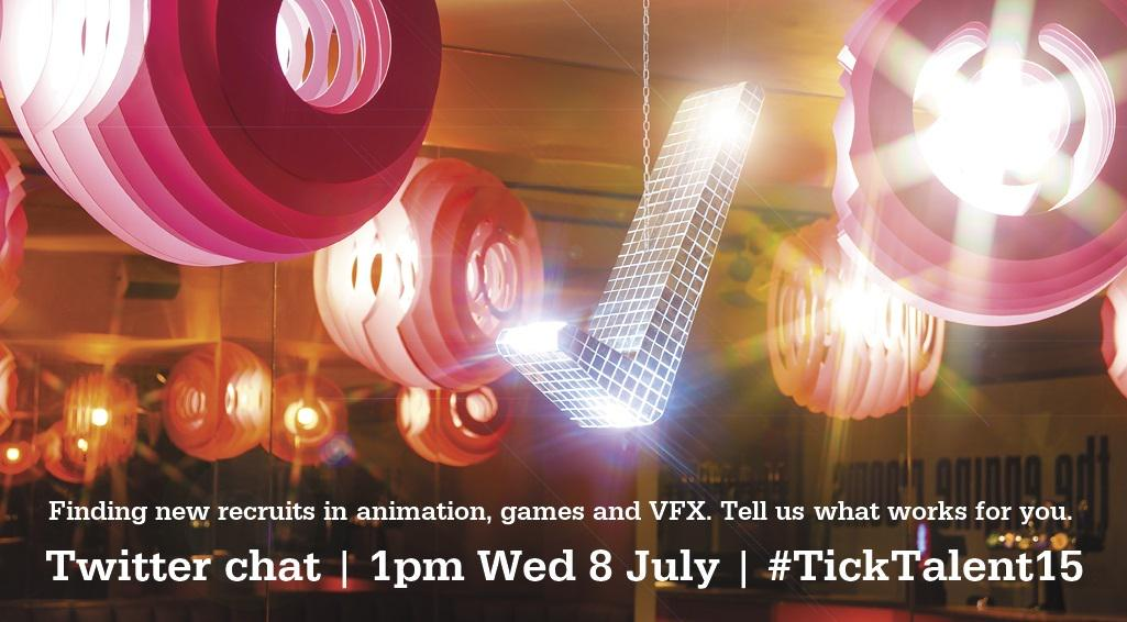 Time poor, talent hungry? Is there a 1-stop shop for the best #animation + #vfx recruits? #TickTalent15 Chat: 1pm 8/7 http://t.co/5kOMrfHRlq